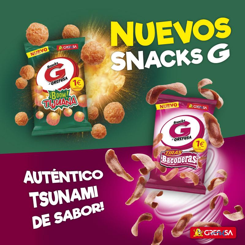 Nuevos snacks Pipas G