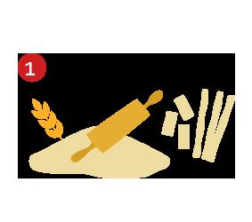 mezcla harina y sal