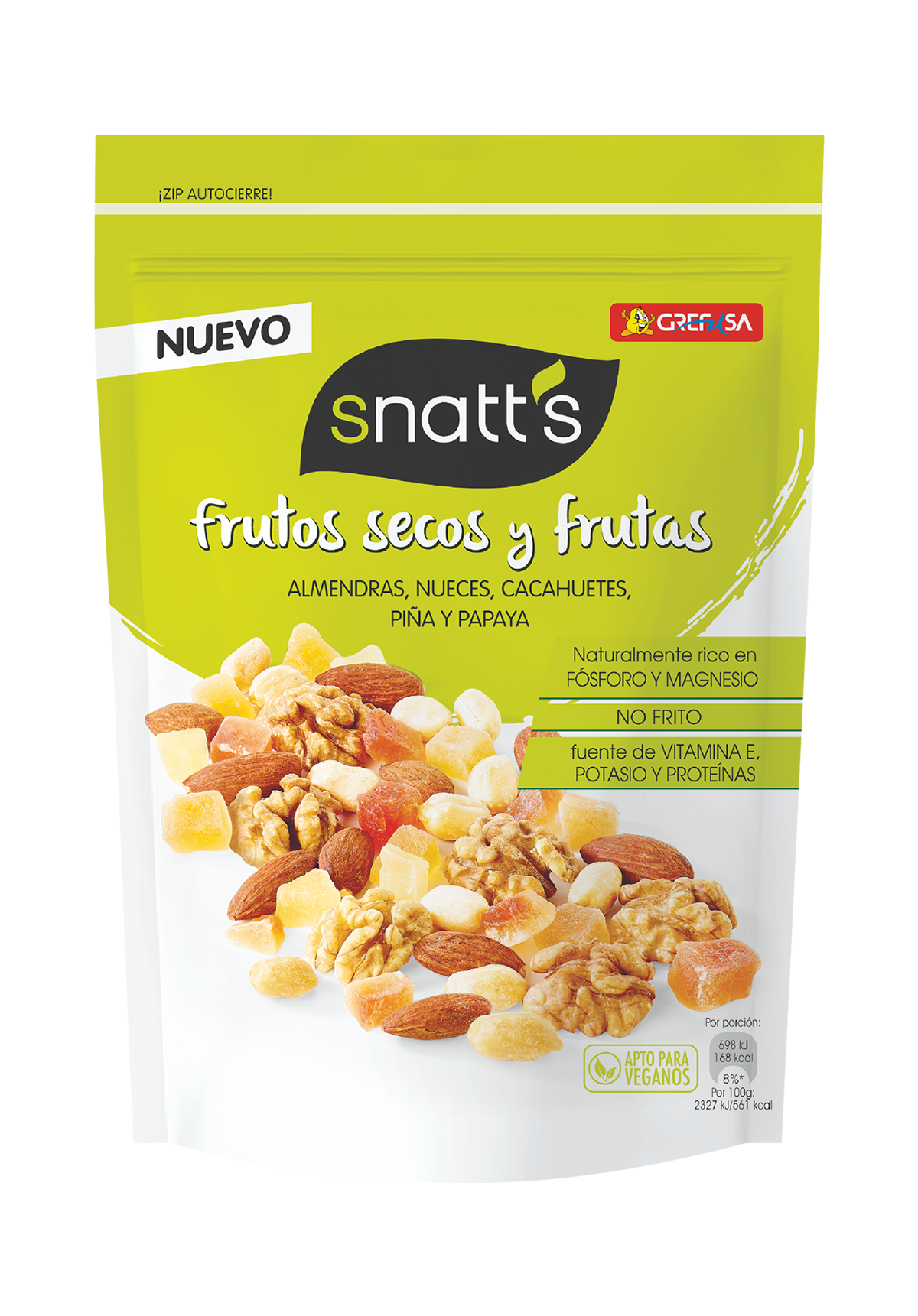 3D SNATS FRUTOS SECOS + PIÑA 120G