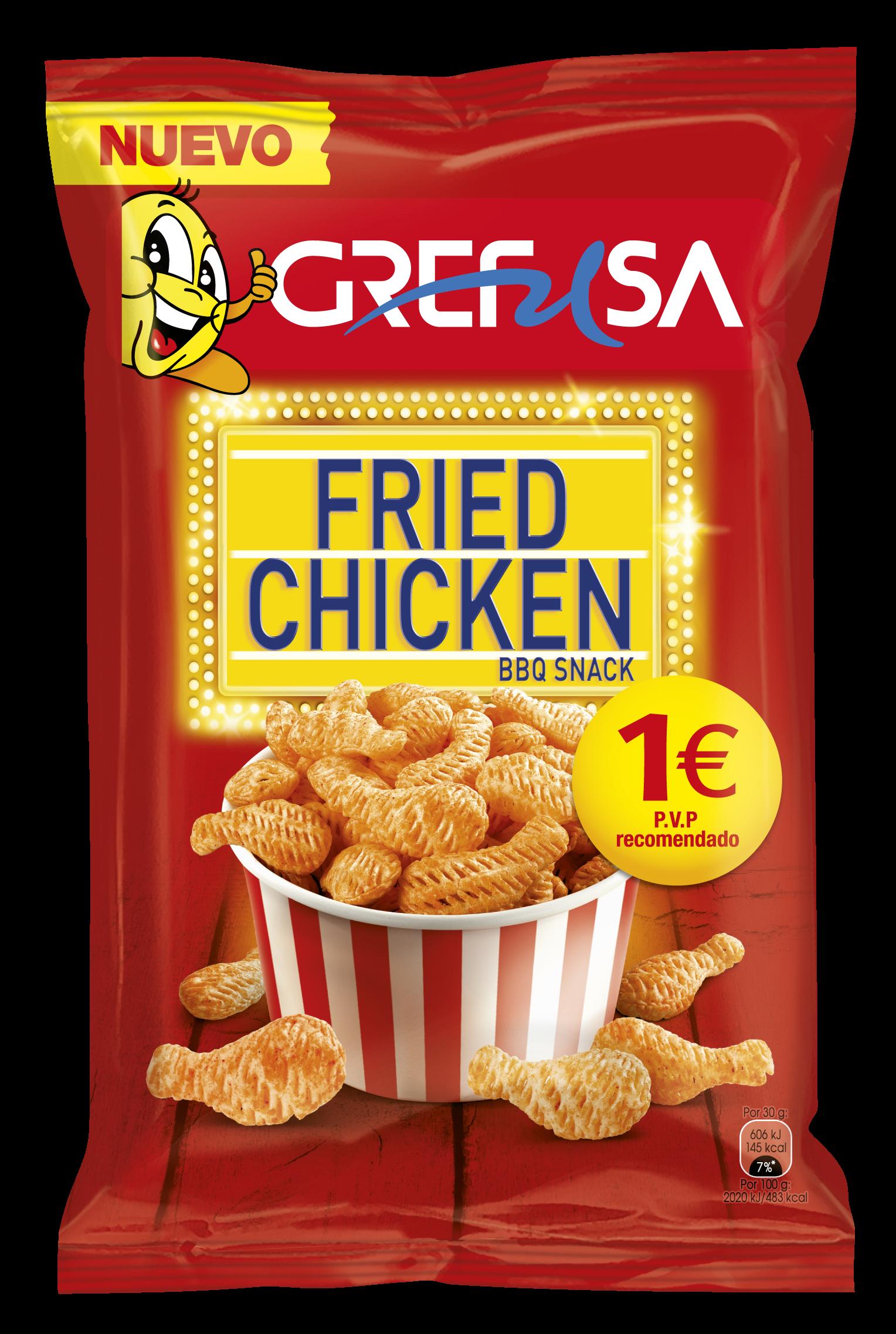 snack pollo frito