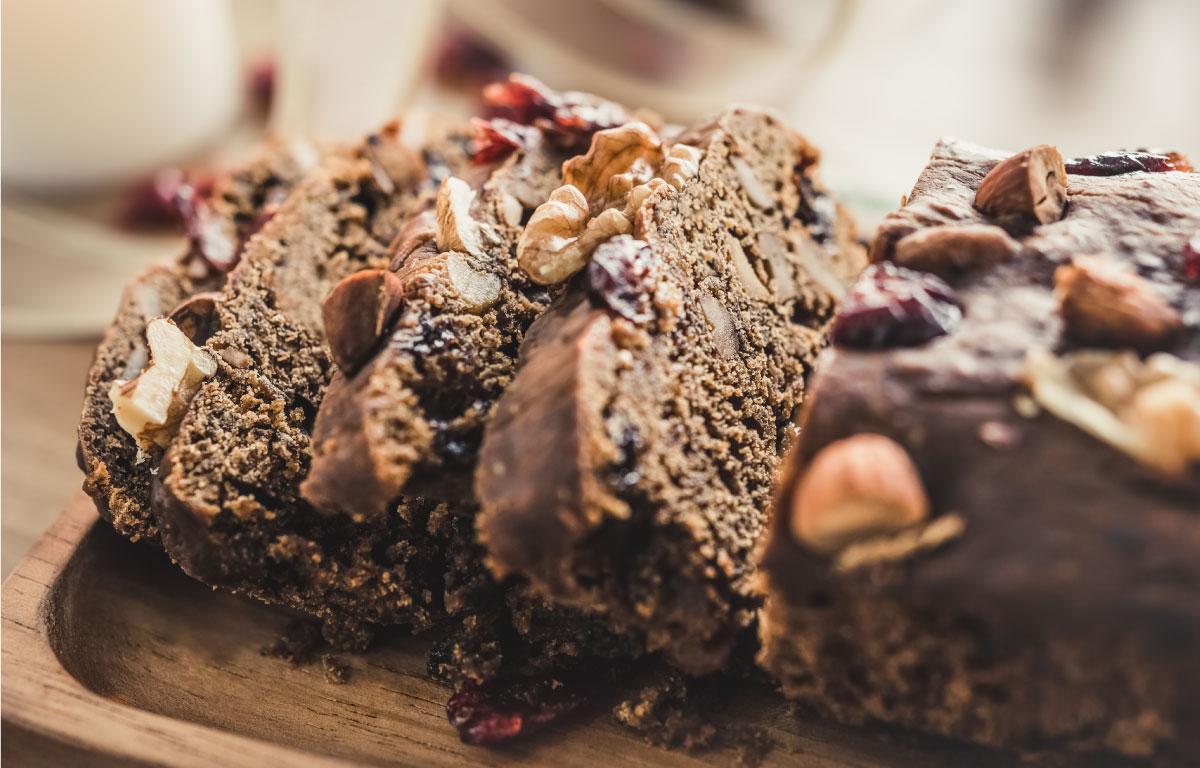 Tarta de chocolate con frutos secos